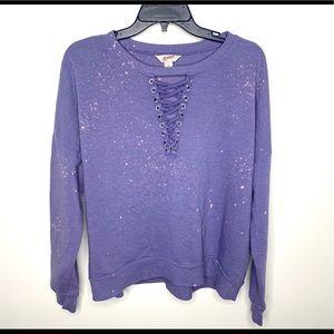 < Arizona Bleach Splattered Sweatshirt >